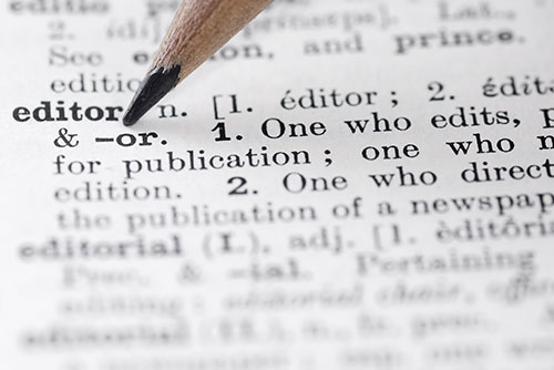 Dictionary definition of editor